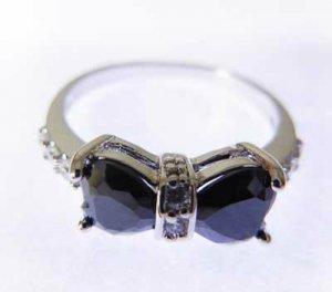 Beautiful 9KWHITE GOLD Layered Bow Knot Ring Size 7