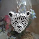 **Sexy Leopard Rhinestone Head Necklace