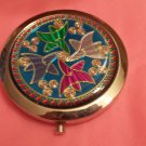 Fancy Design Silver tone Compact Mirror