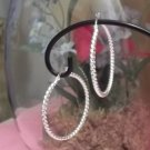 ** Cute 925 Silver Swirly Hoop Earrings