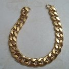 **Mens 18K Gold Clad Curb Chain Bracelet