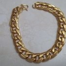 *Mens Curb Chain 18k Gold Clad Bracelet
