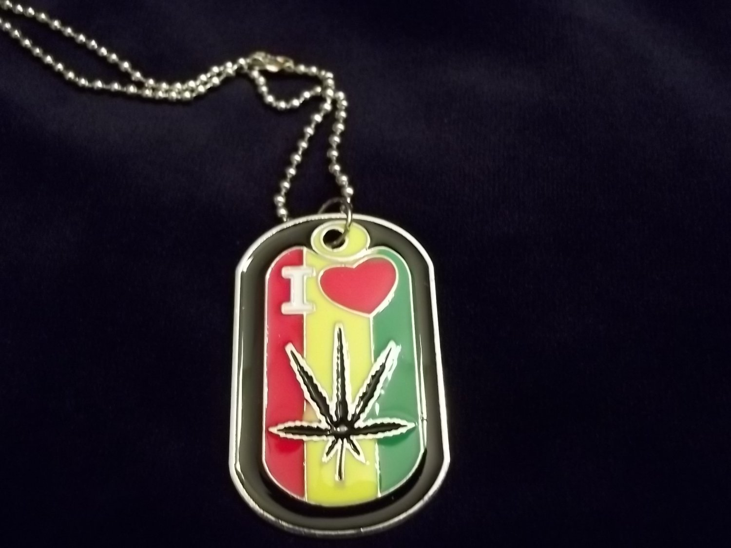 * Weed Dog Tag Necklace*
