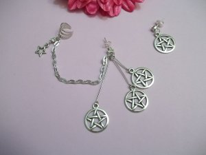 WICCA STAR EAR CUFF EARRING SET