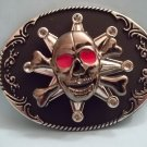 SPINNER SKULL AND CROSSBONES BELT BUCKLE