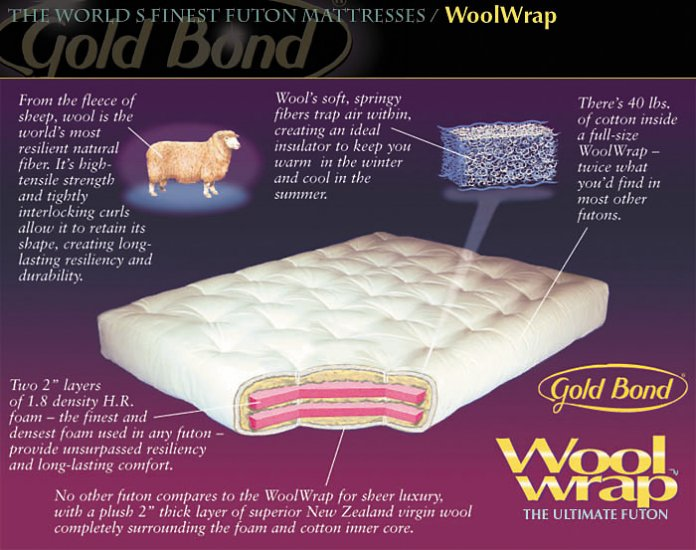 WOOLWRAP FUTON MATTRESS