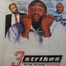 3 Strikes,TEASER MOVIE THEATER POSTER,2000