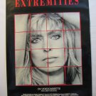 Extremities, Genuine VHS Movie Poster, Farrah Fawcett