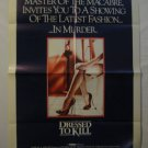 Dressed to Kill,Original Theater Poster, Michael Caine