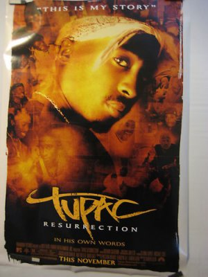TUPAC RESURRECTION,TEASER MOVIE THEATER POSTER, 2003