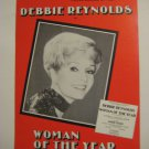DEBBIE REYNOLDS BROADWAY WINDOW CARD PALACE THEATRE
