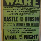 1940 poster invisable man returns Ware Theatre Beverly