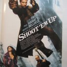 SHOOT EM UP,MOVIE THEATER POSTER,Clive Owen