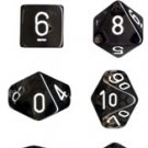 Chessex Translucent Smoke with White 7-dice Polyhedral RPG Dice Set