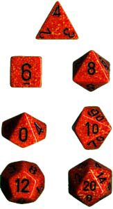 Chessex Speckled Fire 7-dice Polyhedral RPG Dice Set