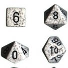 Chessex Speckled Arctic Camo 7-dice Polyhedral RPG Dice Set