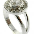 WONDERFUL CREATED  DIAMOND Sterling 925 Silver RING