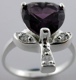 GRACEFUL created Amethyst  925 Silver Ring
