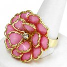 Pink Gold Flower Ring