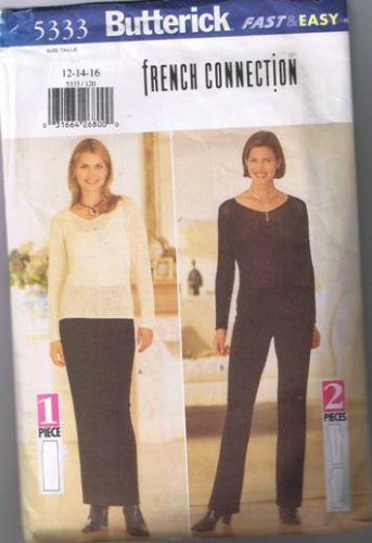 Butterick 5333 Misses Skirt & Pants - Size 12 - Cut and Complete