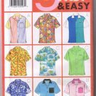 Butterick 5016 - Unisex Shirt - Casual Button Up - Sizes L XL (42-48) - UNCUT Factory Folded