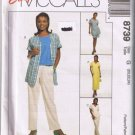 McCalls 8739 Misses Dress, Tunic, Top, Tank Top, Pants, Shorts - Sizes 20 22 24 - UNCUT