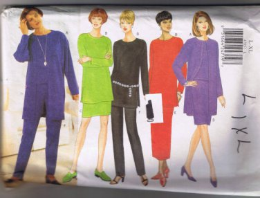 Butterick 4785 Misses Jacket Top Tunic Skirt Pants - Sizes L, XL (16 - 22) UNCUT