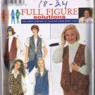 Simplicity 7296 - Women's Set of Reversible Vests - Sizes 18W, 20W, 22W, 24W - UNCUT