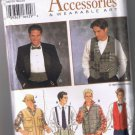 Simplicity 9345 Men's or Teen Boy's Vest and Formal Accessories - ALL Sizes - UNCUT Factory Folded