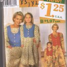 Simplicity 7769 Matching Mommy & Me Dresses - Sizes Child 3-8, Adult XS-XL UNCUT / FACTORY FOLDED