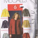 McCall's 4933 Women's / Women's Petite Lined Jacket Sizes 18W 20W 22W 24W UNCUT Factory Folded