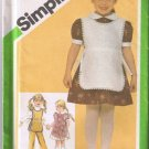 Simplicity 9817 Child's Dress, Tabard, Pants Size 4 UNCUT/Factory Folded