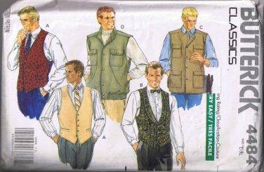 Butterick Classics 4484 Men's Vest - 5 Styles - Sizes L, XL - UNCUT / Factory Folded