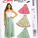 McCall's Stitch n Save M5566 - Misses Skirt in Two Lengths - Size L-XL (16-22) - UNCUT