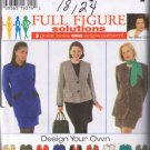 Simplicity 7292 Women's / Women's Petite Lined Suit - 9 Great Looks - Sizes 18W-24W - UNCUT