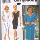 Simplicity 8286 Misses Miss Petite Dress in Two Lengths - Sizes 10 12 14 - Dated 1993 UNCUT