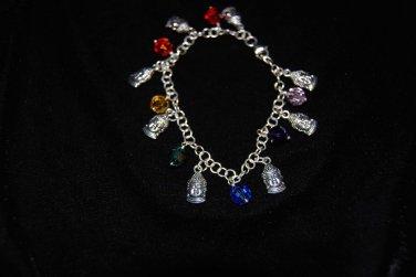 Budda Charm and Swarovski Crystal  Bracelet