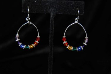 Earrings  with Chakra Colored Crystals