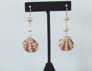 Calico on Silver chain Earrings