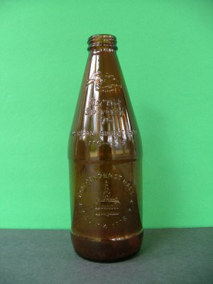 1976 Fyfe & Drum Embossed Bicentennial Beer Bottle � Independence Hall