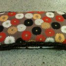 Floral Diaper Wipe Case, Kimono Style with soft velvet trim- Perfect for your purse or diaper bag