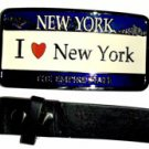 I Love New York - Belt Buckle with Leather Black Belt
