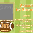 Lil Quarterback Birthday Invitation