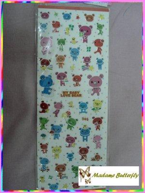 #cute bear stickers 12