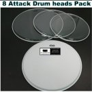 8 Attack Drum Heads Percussion Custom Set