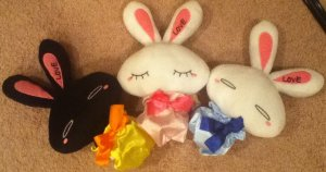 Love Bunnies set - Medium size version A