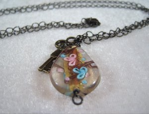 Lampwork Bead Charm Necklace