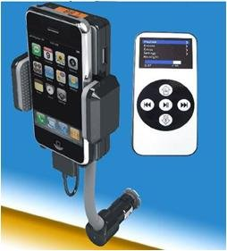 FM Transmitter Car Charger & Cradle for iPod/iPhone