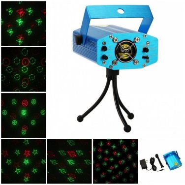 6 in 1 Disco DJ Stage Crystal Magic Ball Effect Light Laser Lighting Show party