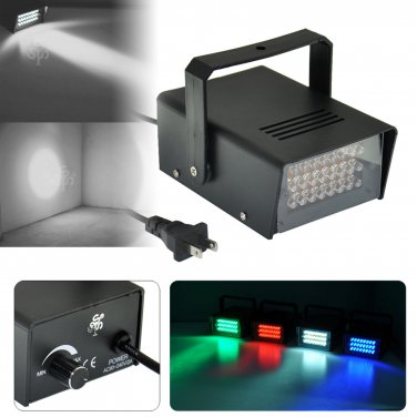 Mini DJ Strobe Light Flash Light 24 LED Bulb Club Stage Lighting